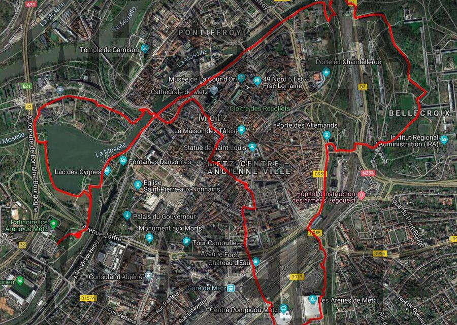 Carte : Visite Metz A